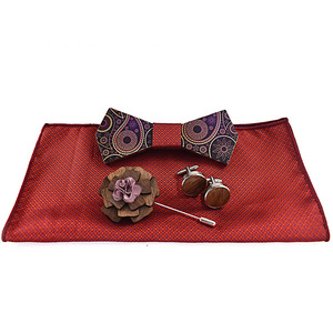 hot new products a set of 5 wooden bow tie men gift set