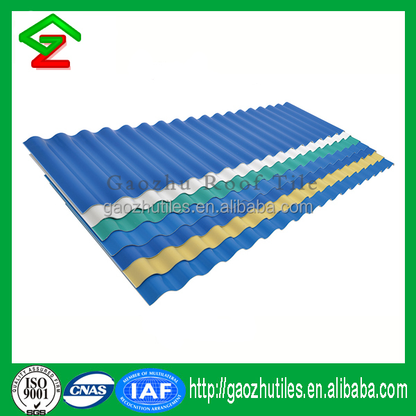 Plastic corrugated pvc material distributor indonesia resin roof tile