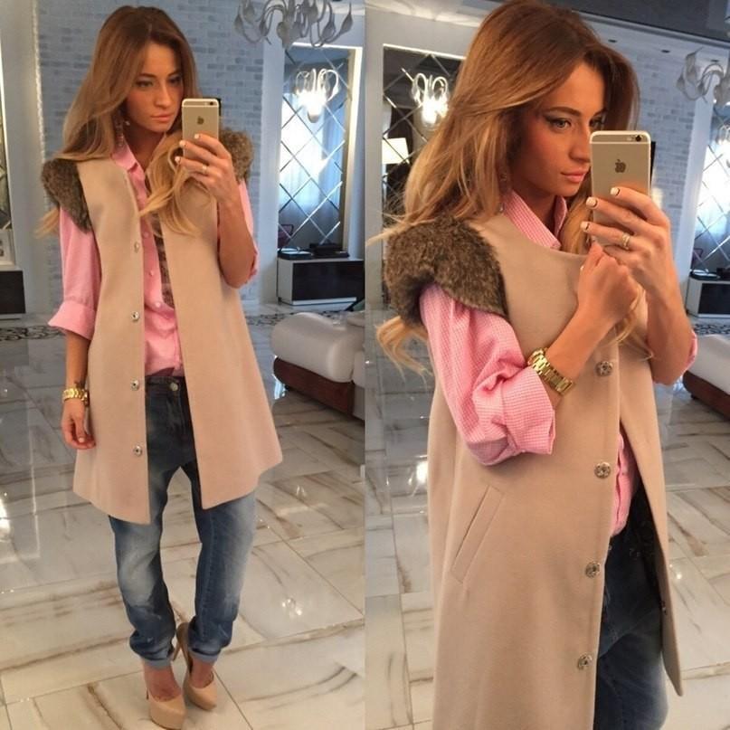 2015 мода зимнее пальто женщин жилет погон о-образным шею шерстяное пальто длиной макси пальто женщин урожай лучших colete feminino кожаная куртка
