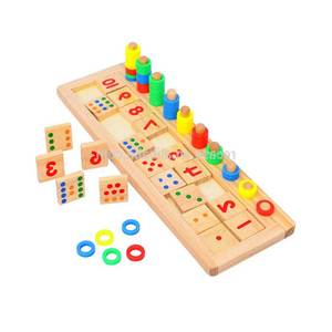 Wooden Toys Educational Logarithmic Study Board Game For Kids