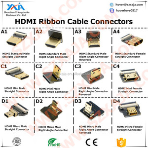 Bend Right Angle 90 degree HDMI Adapter 1.4 Version 150cm Male to male soft ribbon Cable HDMI connector Line Wire cord