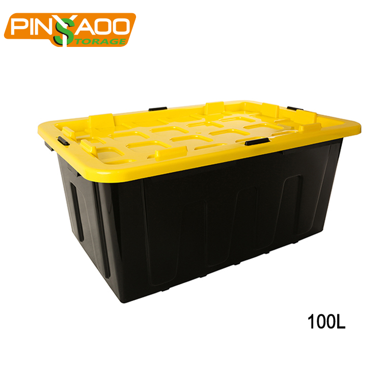 Durable Use <strong>Plastic</strong> Tote Heavy Duty Containers Storage Boxes And Bins With Tote Lids wholesale