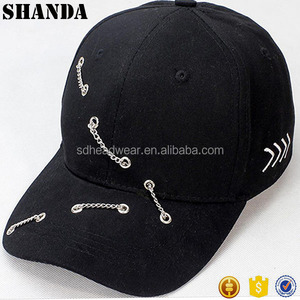 metal eyelets chain unique stylish fancy baseball caps