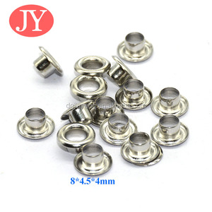 Wholesale high quality nickle free 8mm shiny silver grommet eyelet