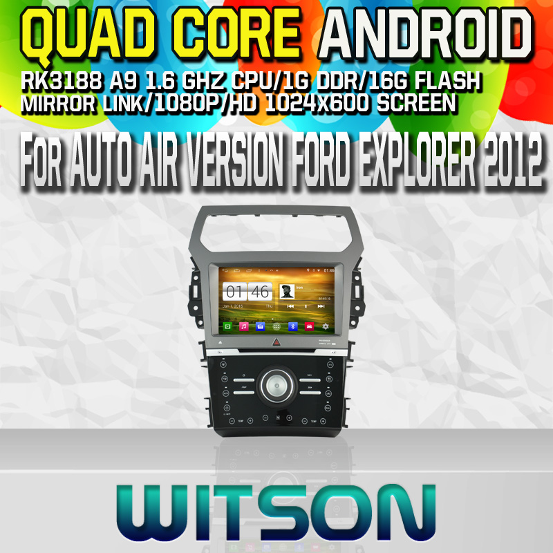Witson S160 Android 4.4 Car DVD GPS For AUTO AIR VERSION FORD EXPLORER 2012 with Quad Core Rockchip 3188 1080P 16g ROM WiFi