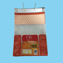 custom printed plastic wicket Bag of BOPP material for food packaging