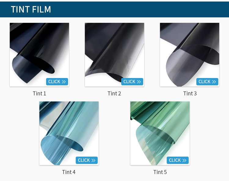PET self adhesive window screen film tint home home privacy uv protection window tint for building glass