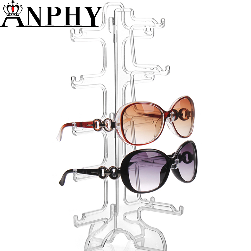 ANPHY A219 Sunglasses <strong>Display</strong> stand Clear Plastic 5 Pairs Sunglasses <strong>Display</strong>