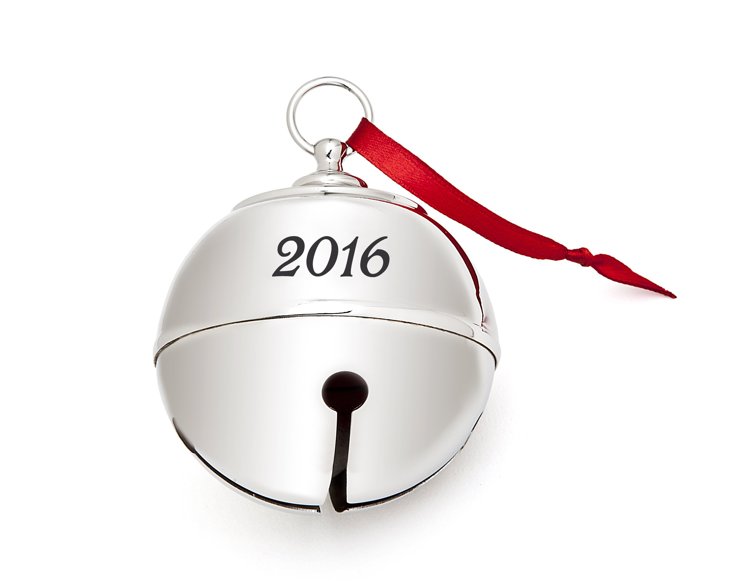 Klikel 2016 Christmas Tree Holiday Sleigh Holly Bell Ornament Decoration With Red Ribbon 3rd Annual 2016 Engraved