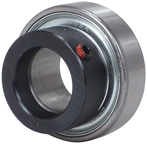 """Peer Bearing FHR205-16 Insert Bearing, FHR200 Series, Narrow Inner Ring, Cylindrical Outer Ring, Non-Relubricable, Eccentric Locking Collar, Single Lip Seal, 1"""" Bore, 15 mm Inner Ring, 21.5 mm Outer Ring, 1"""" (25.4 mm) ID, 2.047"""" (51.999 mm) OD, 2.047"""" (51.999 mm) Width"""
