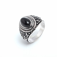 2017 manufacturer wholesale 925 sterling silver woman man fashion gemstone index finger ring customized jewelry Black CZ