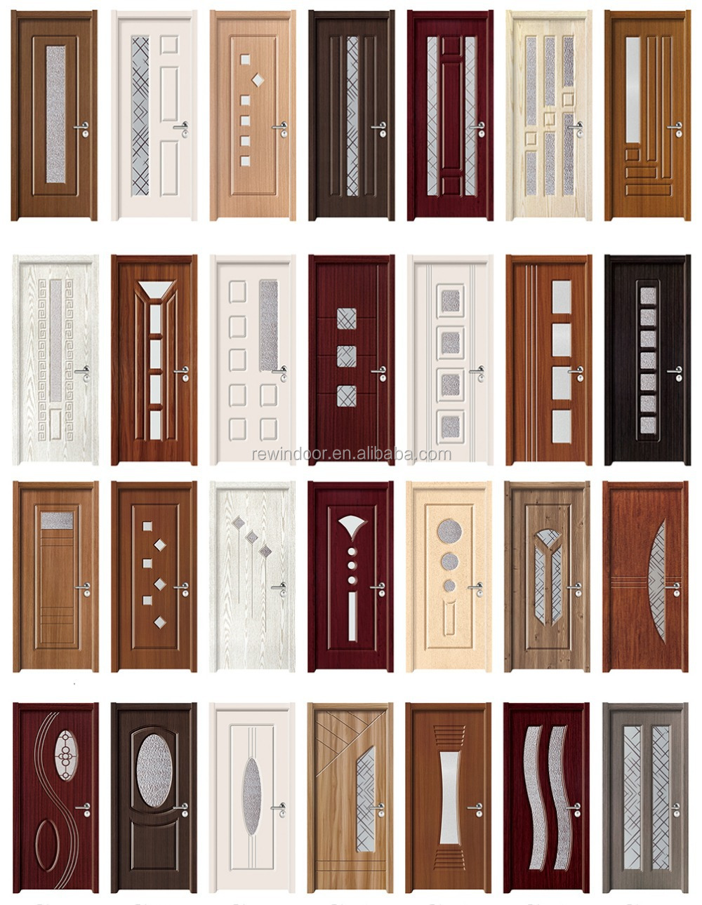 Bathroom pvc doors prices fiber bathroom door teak wood for Wood window door design