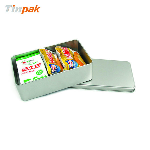 Promotional rectangle plain tin box for personal items