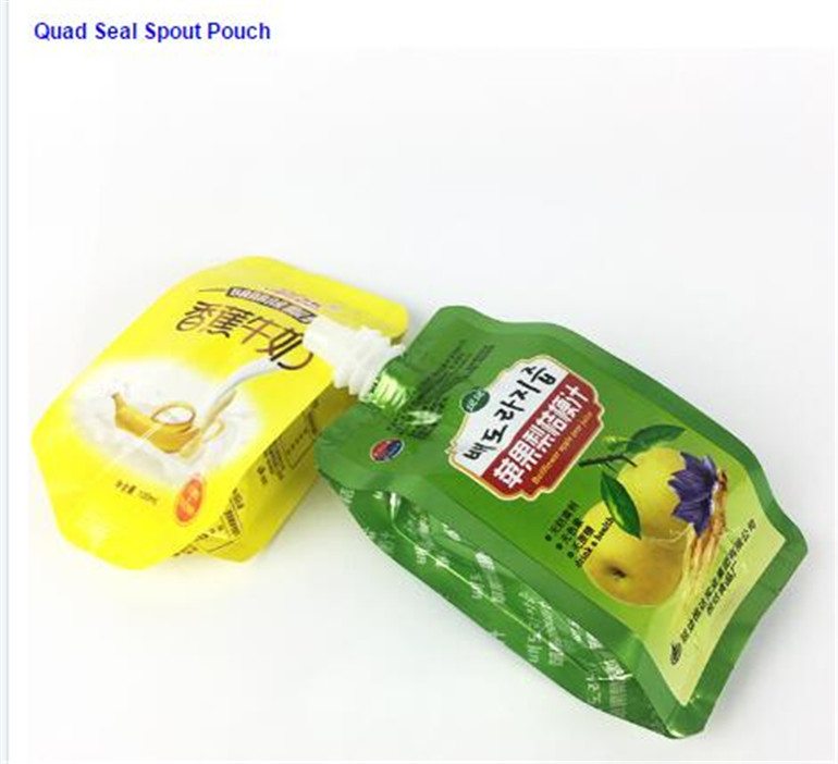 beverage doypack opaque storage yougurt milk pouch with spout cap packaging