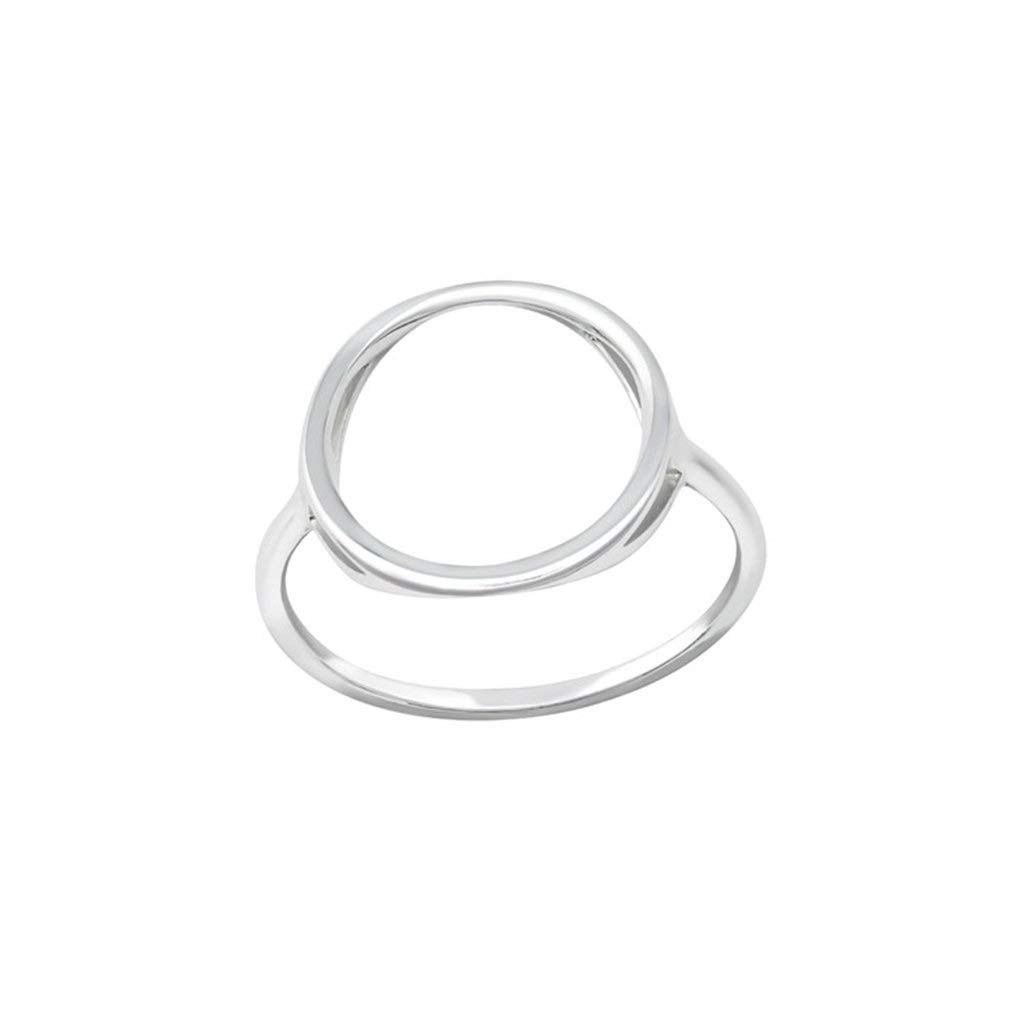 Polished Nickel Free Pear Jeweled Rings 925 Sterling Silver Liara