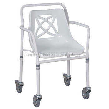 Pvc Shower Chair With Wheels