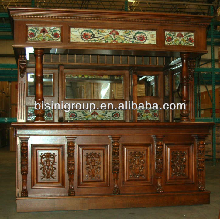 Bisini Solid Wood Bar Counter Bg500011 View Commercial Counters Group Product Details From Zhaoqing Furniture And Decoration Co