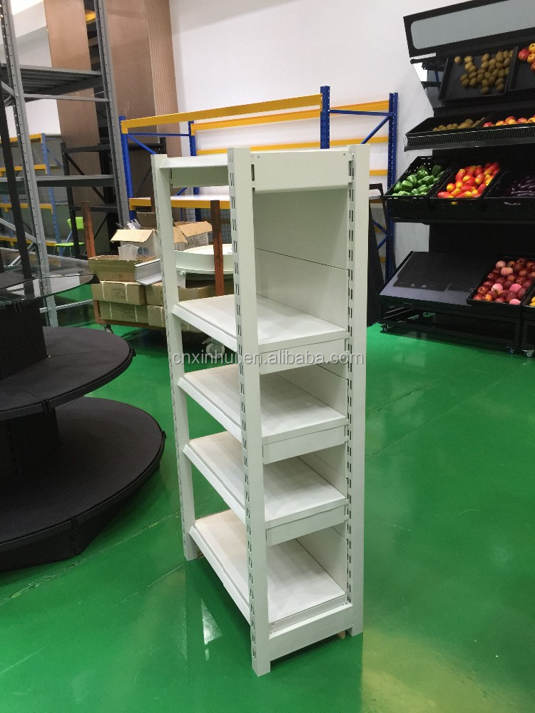 modern design shop mall use supermarket single-sided close corner shelf