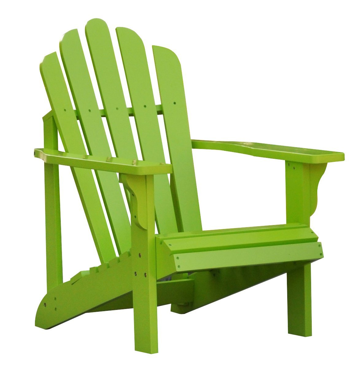 Get Quotations · Shine Company Westport Adirondack Chair, Lime Green