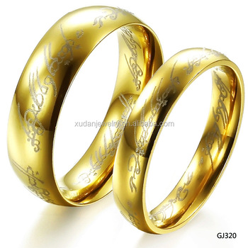 New Gold Rings Design Stainless Steel Couple Wedding