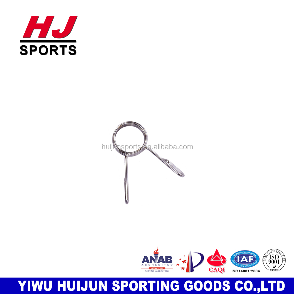 HJ-A199 Wholesale Anti-Rust Chrome Spinlock Spring Barbell Collar