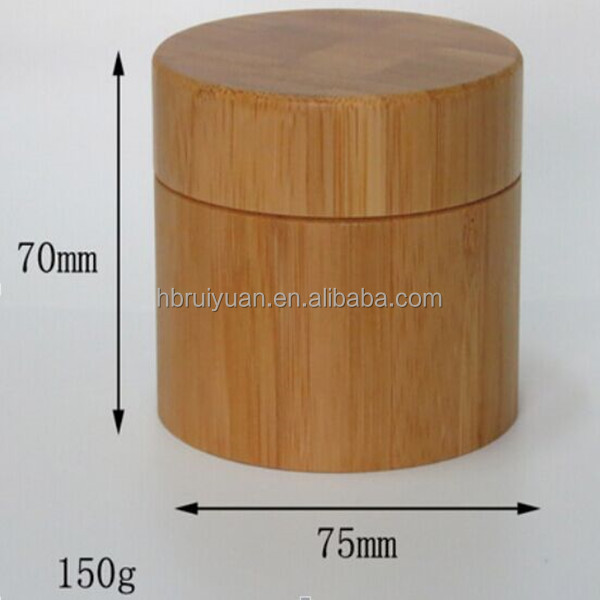 Skin Care Cream Use and Personal Care Industrial Use Bamboo Cream Jar Packaging