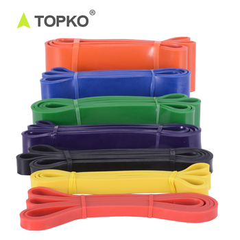 TOPKO Wholesale Custom Gymnastics Latex Pull Up Assist Band