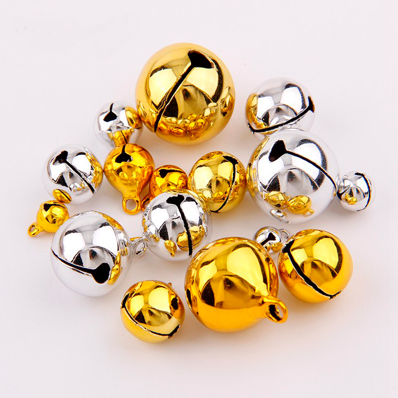 6mm 8mm 10mm 12mm 14mm Metall Kleine Messing Jingle Bells Für Festival Party Christbaumschmuck