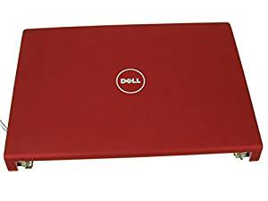 """W397J - RED - Dell Studio 1555 1557 1558 15.6"""" LCD Back Cover Lid Top with Hinges - W397J"""