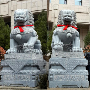 Outdoor Lion Stone Fu Dog Statue For Sale