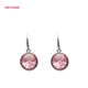 925 sterling silver fashion red crystal hoop earring