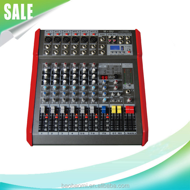 Professional Sound Audio Mixer MU-8-1 Recording With Good Quality Top Selling Products In Alibaba