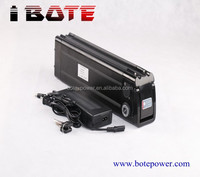 Electric bicycle 24V 15Ah battery With 25.4v 2ah charger silver fish case Li-ion battery 24v 15a E-bike battery