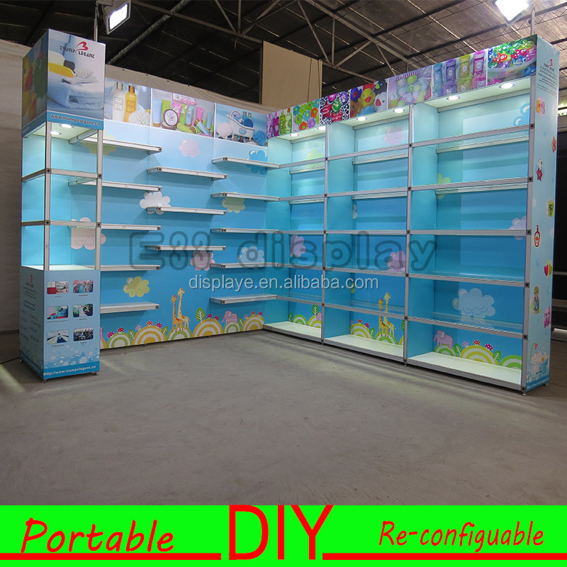 Portable aluminum trade show booth,Chinese display booth made with aluminium profiles