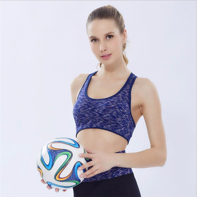 Women Fitness Yoga Sports Bra For Running Gym Padded Top Seamless Top Athletic Vest 10