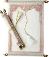 Indian Wedding Scroll Invitation Cards