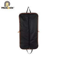 Wholesale Recycle Black Zipper Dance Costume Garment Bag With Pocket
