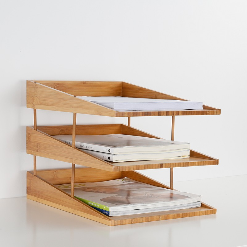 stacking bamboo file tray 3