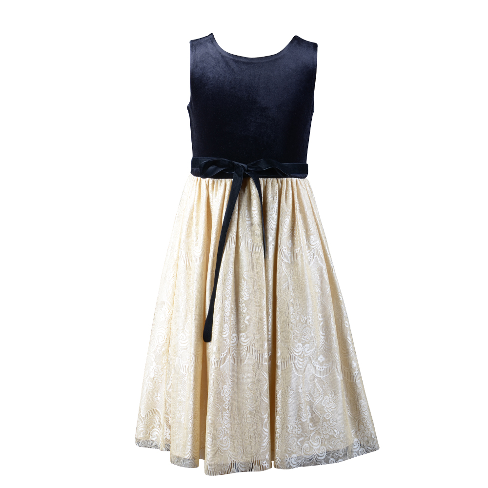 sleeveless kids girls winter evening dresses