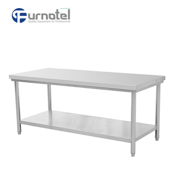 Free Standing Restaurant Heavy Duty Stainless Steel Work Bench