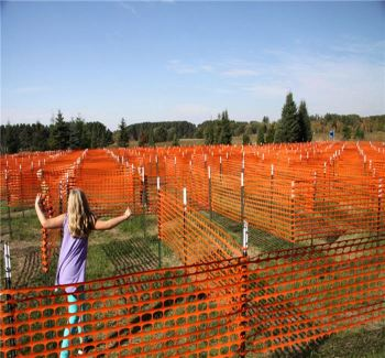 Assembled Snow Fence Plastic Fencing Orange Safety Net