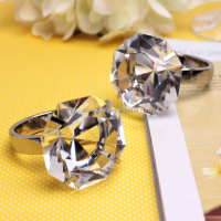 Wedding decorations napkin rings crystal octangon diamond napkin ring
