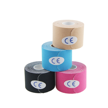 Wholesale high quality AUPCON pre-cut roll imported acrylic glue kinesiology tape