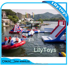 Giant 0.9 pvc water park inflatable tube floating water iceberg park for sea