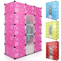 High Quality 35CM DIY Plastic Wardrobe With Flower Decoration
