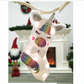 2019 new Christmas ornament unicorn blank christmas stockings christmas gift
