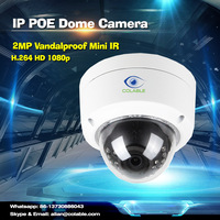 2016 new arrival 2MP full HD 1080p up to 30m IR Range Vandalproof Mini IR POE Speed Dome Camera