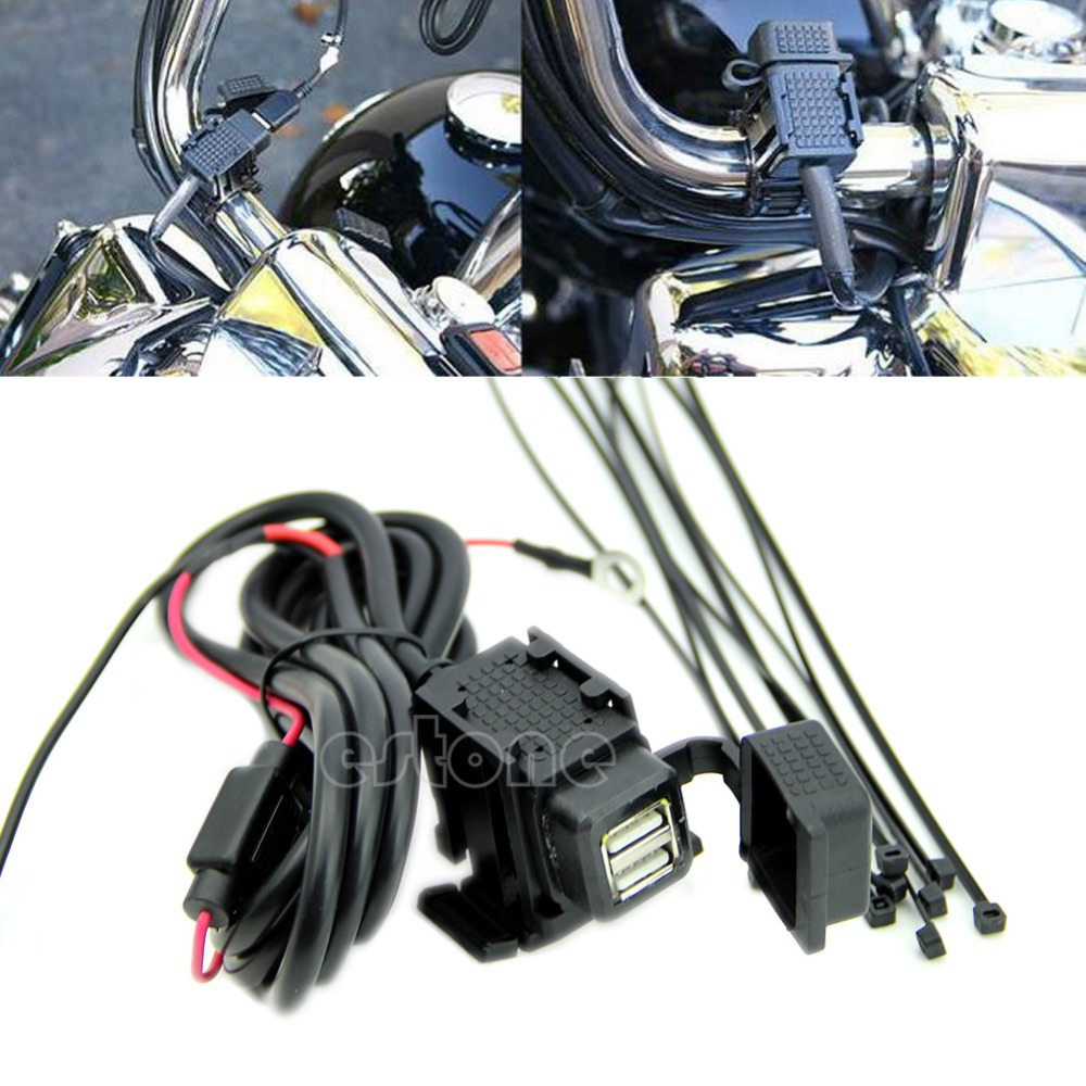 A25 2 USB мотоцикл мобильная водонепроницаемый брызг порт питания разъем зарядного устройства