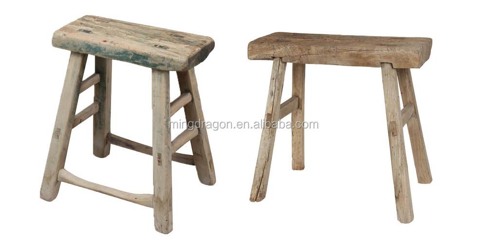 Cinese antico rustico sgabello in legno massello naturale buy