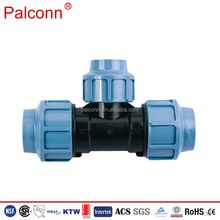 PP Compression Quick HDPE Pipe Fittings for Irrigation Equal Coupling